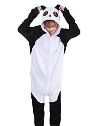abordables -Pijama kigurumi Oso Panda Pijama Mono Pijamas Disfraz Franela Negro / blanco Cosplay por Adulto Ropa de Noche de los Animales Dibujos