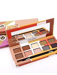 Missrose 10  Color Eyeshadow Palette Dry Eyeshadow palette Pressed powder Normal Daily Makeup Brush