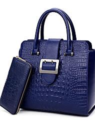 Mujer Bolsos Todas las Temporadas PU Conjuntos de Bolsa 2 piezas de monedero conjunto para Boda Evento/Fiesta Casual Formal Azul Piscina