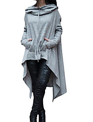 Women's Going out Hoodie Color Block 3D Print Hooded Micro-elastic Others Long Sleeve Spring Fall