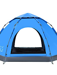LINGNIU® 5-8 persons Tent Double Camping Tent One Room Automatic Tent Keep Warm Waterproof Windproof Sun Protection for Camping / Hiking