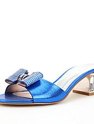 Для женщин Сандалии Обувь через палец Лак Лето Осень Свадьба Для праздника Для вечеринки / ужина Стразы Кристаллы Лак ПряжкиКаблук с