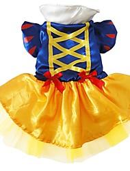 abordables -Perro Disfraces Ropa para Perro Princesa Azul Seda Malla Disfraz Para mascotas Mujer Cosplay