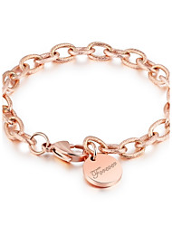European and American cross-border quick sale pass special for ornaments rough and round brand of LOVE rose gold bracelet