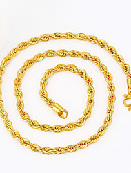 Men's Chain Necklaces Geometric Snake Gold Plated Punk Personalized Hip-Hop Rock Statement Jewelry Metallic Costume Jewelry Jewelry For