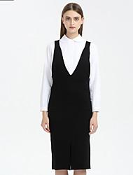 Women's Casual/Daily Long Vest,Solid Strap Long Sleeves Nylon Winter Medium Micro-elastic