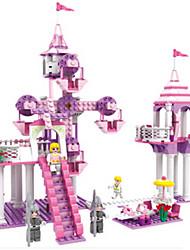baratos -Blocos de Construir Brinquedos Castelo Plásticos ABS Para Meninas Peças
