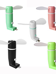 Ruishengdaotg micro usb fã de telefone móvel ventilador portátil cooler cooler girando ventilador para Android