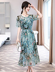 cheap -Women's Chic & Modern A Line Sheath Dress - Floral, Vintage Style