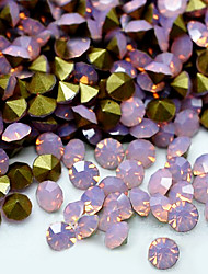 cheap -SS10 20pcs/lot 2.7mm-2.8mm 3D Rhinestones Decoration Pink Color Opal Rhinestone Golden Point Back Nail for Dress