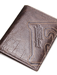 cheap -Men's Bags Cowhide Money Clip Pattern / Print for Shopping / Daily Dark Brown