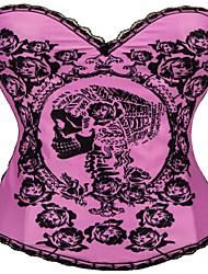 cheap -Women's Hook & Eye Overbust Corset-Solid,Print