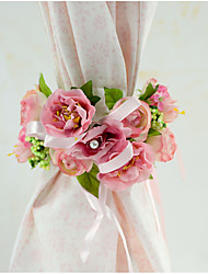 1 Piece YUXIYING Little Camellia Curtain Bundle Flowers  Chair Sash Flowers Wedding Party Special Occasion Party Short Style