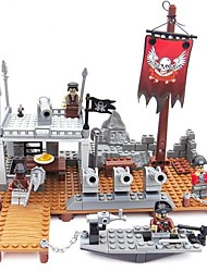 cheap -Building Blocks Toys Ship Pirates Engineering Plastics Cast Iron Children's Kids Pieces