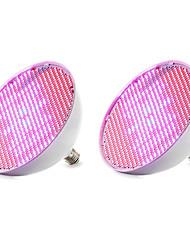 billige -2pcs 1000 lm E27 Voksende lyspærer 800 leds SMD 3528 Blå Rød AC 85-265V