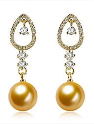 preiswerte -Damen Ohrstecker Modisch individualisiert Hypoallergen nette Art Gothic Luxus-Schmuck Klassisch Perle vergoldet Schmuck FürHochzeit Neues