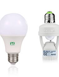 7W E27 Lâmpada Redonda LED 14 leds SMD 2835 Decorativa Sensor do corpo humano Branco Quente Branco 600-700lm 6000-6500/2800-3200
