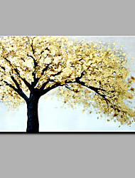Hand-Painted Botanical The golden tree Art Retro Classic & Timeless One Panel Canvas Oil Painting For Home Decoration