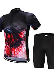 FUALRNY® Fahrradtriktot mit Fahrradhosen Herrn Kurzarm Fahhrad Kleidungs-Sets Rasche Trocknung Feuchtigkeitsdurchlässigkeit Leichtes