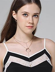cheap -Women's Moon Shape Fashion Pendant Necklace Alloy Pendant Necklace Daily Casual Street Costume Jewelry
