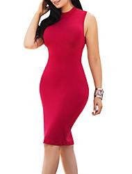 cheap -Women's Bodycon Dress - Solid, Backless Criss-Cross Crew Neck