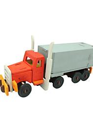 abordables -Puzzles 3D Puzzle Camion Articles d'ameublement A Faire Soi-Même En bois Bois Classique Enfant Cadeau