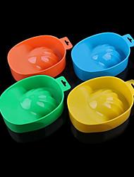 PINPAI 1PCS Single Layer Bubble Resurrection of The Bowl Hand Spa Manicure Tools Nail Bowl Resurrection of The Water Basins of Water Color Random