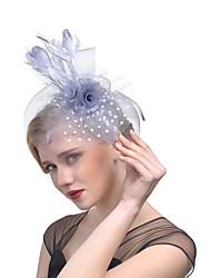 Недорогие -пера чистая птица клетка головной убор классический женский стиль