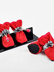 Dog Shoes & Boots Casual/Daily Waterproof Solid Black Orange Red For Pets