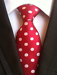cheap -Men's Polyster Neck Tie,Neckwear Polka Dot All Seasons Red