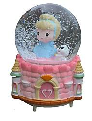baratos -Bolas Caixa de música Brinquedos Redonda Cristal Peças Para Meninas Aniversário Dom