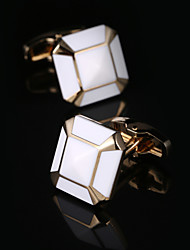 cheap -Geometric Square Cut Golden Cufflinks Fashion Gift Boxes & Bags Men's Costume Jewelry