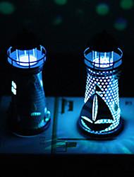 cheap -1Pc Flash Ocean Iron Lighthouse Night Light Candleholder Mediterranean Style Home Room Party Wedding Festival Decor