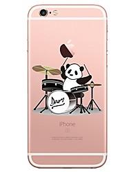 billige -Etui til iPhone 7 6 panda tpu blødt ultra-tyndt bagside cover cover iphone 7 plus 6 6s plus se 5s 5 5c 4s 4