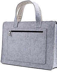 cheap -For Macbook 14 Inches Wool Felt Laptop Bags Cabinet Handbag