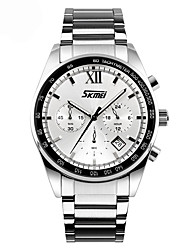 cheap -SKMEI Men's Quartz Wrist Watch Sport Watch Chinese Calendar / date / day Water Resistant / Water Proof Dual Time Zones Metal Band Charm
