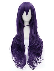 cheap -80cm Long Curly Purple Love Live Nozomi Tojo Wig Synthetic Anime Cosplay Hair Wig CS-231S