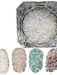 cheap -600pcs/bottle New Fashion Shining Double Head Nail Art DIY Beauty Shining Crystal AB Rhinestone Glitter Crystal Rhinestone Decoration For Women Beauty