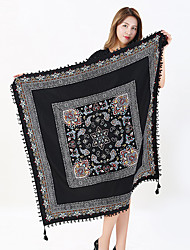 cheap -Women's Cotton Fashion Cute Floral Square  Fall Winter All Seasons Scarf 110*110CM