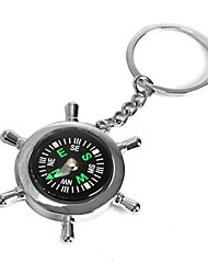 cheap -ZIQIAO Boat Helm Wheel Compass Keyring Novelty Key Ring Chain Keychain Zinc Alloy Gift