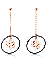 cheap -The new style of Korean style of women's snow round about long fashion earrings accessories to prevent allergies