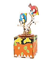 cheap -Music Box Wood Bird Carousel DIY Music Kid's Unisex Gift