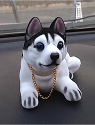 cheap -DIY Automotive Pendants Dolls Shaking His Head Dog Decoration Supplies Cute Creative Puppies Husky Car Pendant & Ornaments Resin