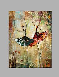 economico -Dipinta a mano Astratto Verticale,Artistico Un Pannello Tela Hang-Dipinto ad olio For Decorazioni per la casa