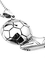 trendy titanium steel sports equipment play football pendant is the preferred jewelry for sports enthusiasts