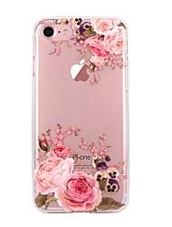 Pour iPhone X iPhone 8 Etuis coque Ultrafine Transparente Motif Coque Arrière Coque Fleur Flexible PUT pour Apple iPhone X iPhone 8 Plus