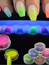 cheap -1g/Bottle Nail Art Glitter Powder DIY Beauty Glitter 3d Glow Nail Art Fluorescent Luminous Neon Powder For Nail Bright Decorations YG1-12