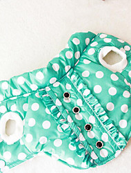 cheap -Dog Vest Dog Clothes Polka Dot Orange Green Cotton Down Costume For Pets Men's Women's Casual/Daily