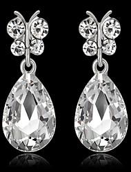 abordables -Femme Saphir synthétique Diamant synthétique Boucles d'oreille goutte - Goutte Mode Blanc / Vert / Bleu royal Pour Soirée Anniversaire Quotidien