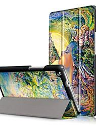 Capa de capa de impressão para o huawei mediapad m3 lite 8.0 polegadas cpn-w09 cpn-al00 com filme de tela